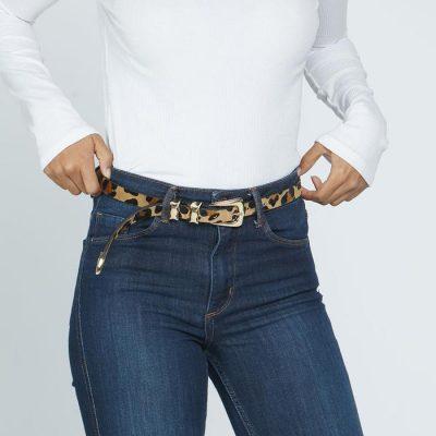 Lennie Calf-Hair belt