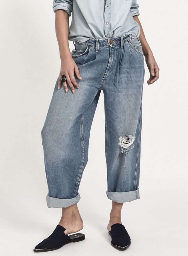 Jeans anchos de tiro bajo Smiths
