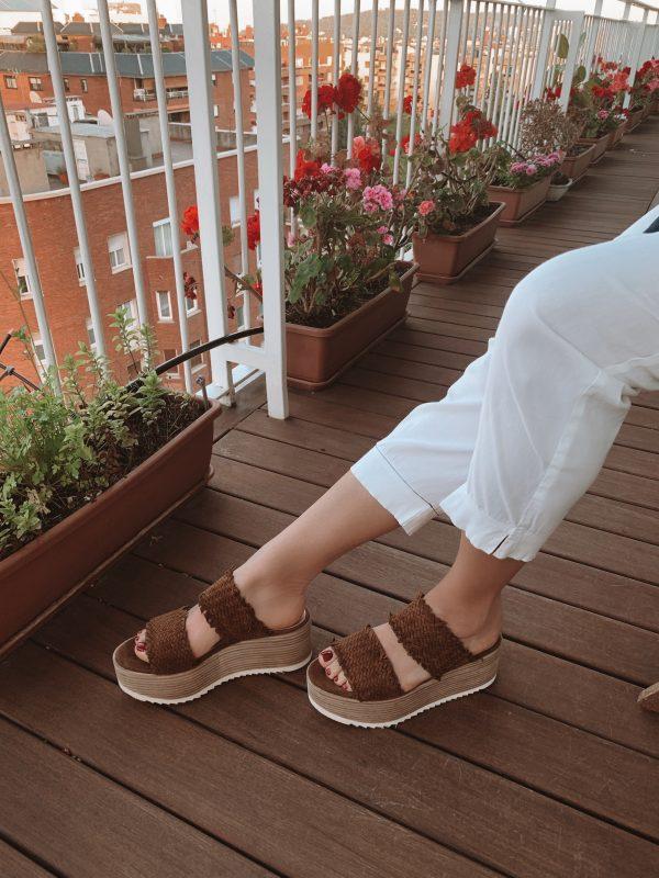 Sandalia plataforma Via Pera