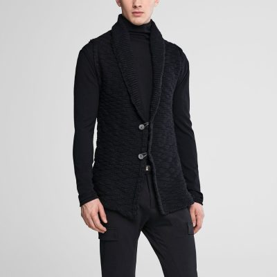 Cardigan de lana sin mangas