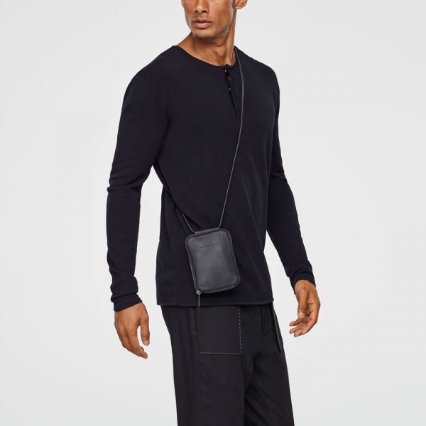 Leather wallet-bag unisex
