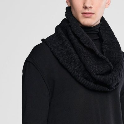 Wool collar scarf