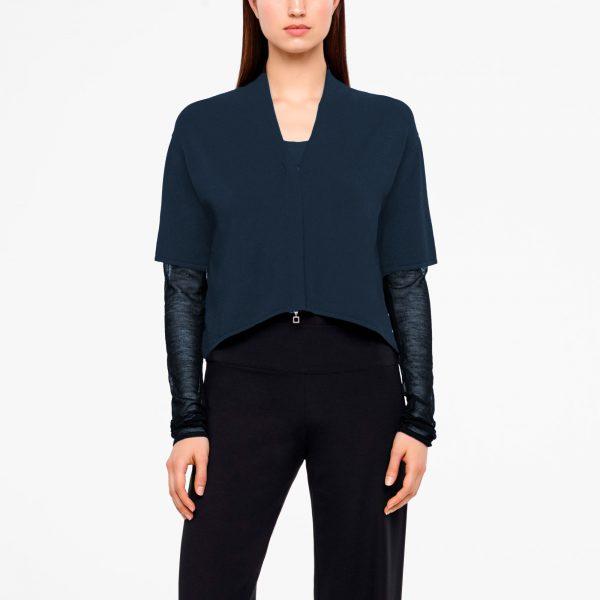 Translucent sleeves cardigan Dalia