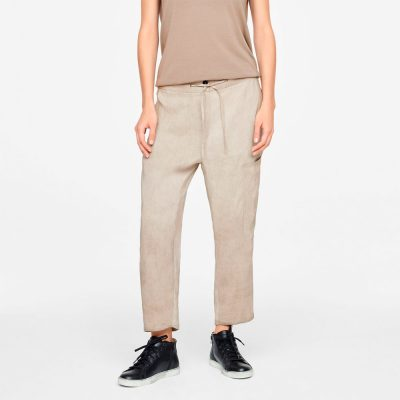 Drawsting linen pants