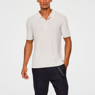 Light linen polo