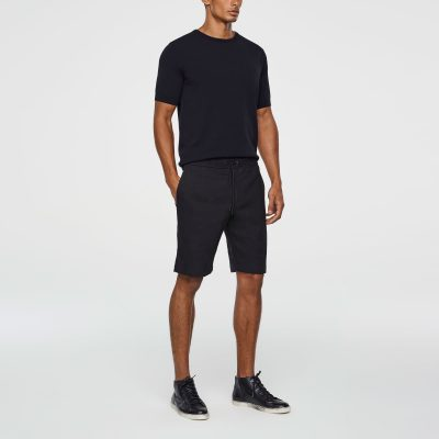 Stretch-linen bermuda shorts