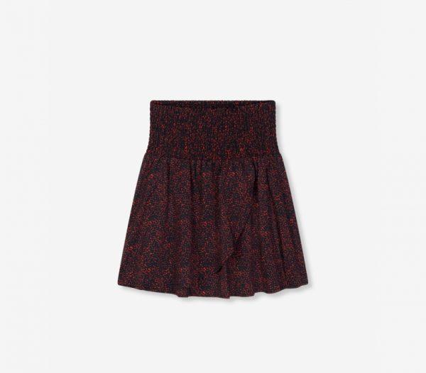 Mini print skirt
