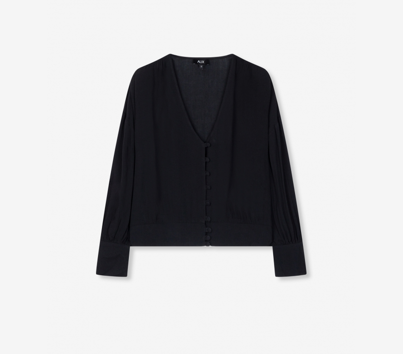 Loose buttoned blouse