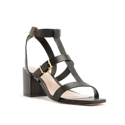 Buckles black sandal