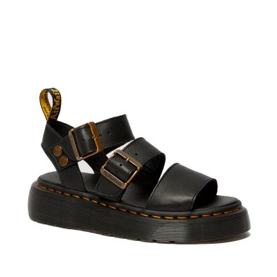 Gryphon Quad black pisa sandals