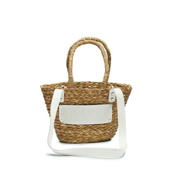 Small beach bag white