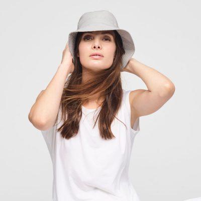 Linen bucket hat unisex