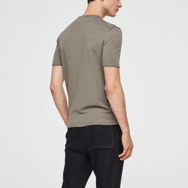 Camiseta de lino de mangas cortas