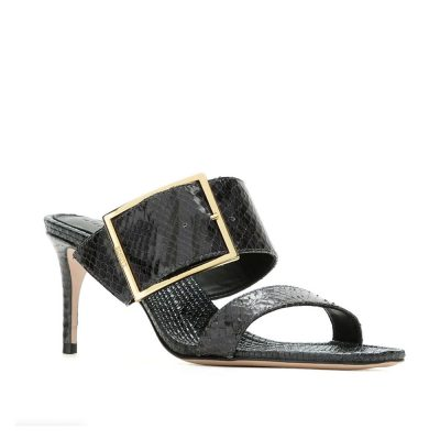Snake dark grey sandal