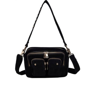 Ellie Corduroy black gold bag