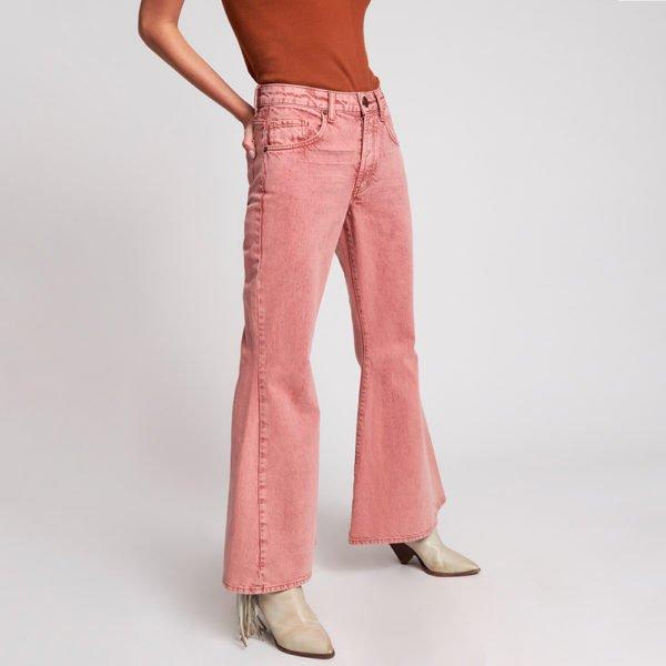 Marines vintage red flared jeans