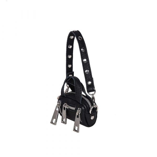 Mini mini Donna silky black bag