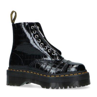 Sinclair P.Lamper croc black boots