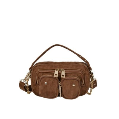 Bolso Helena corduroy light brown w. gold