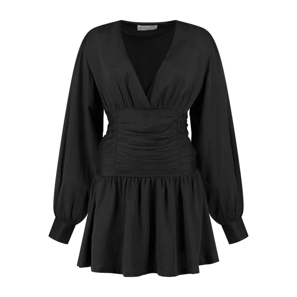 alana dress black_Front