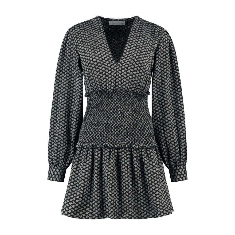 celina dress grey-black_Front