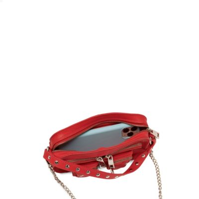 Bolso Helena organic leather red