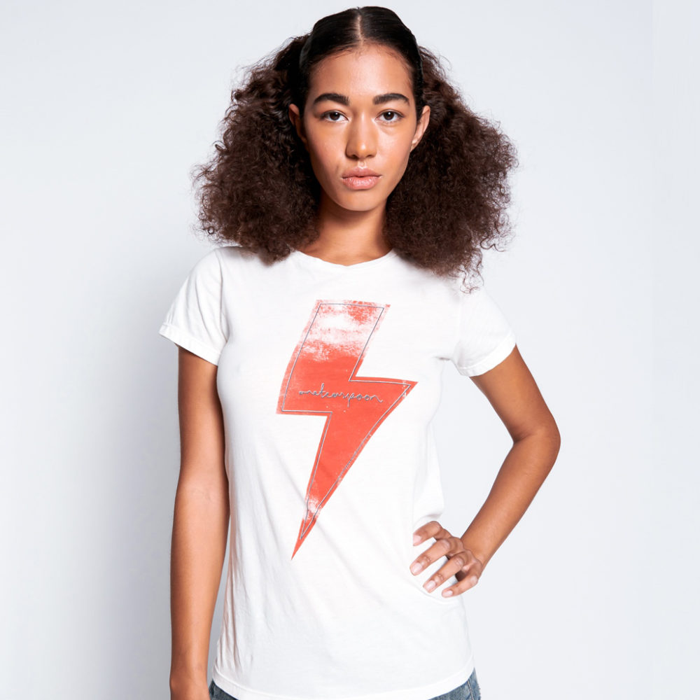 Camiseta White Lightening Fitted One Teas Poon_1