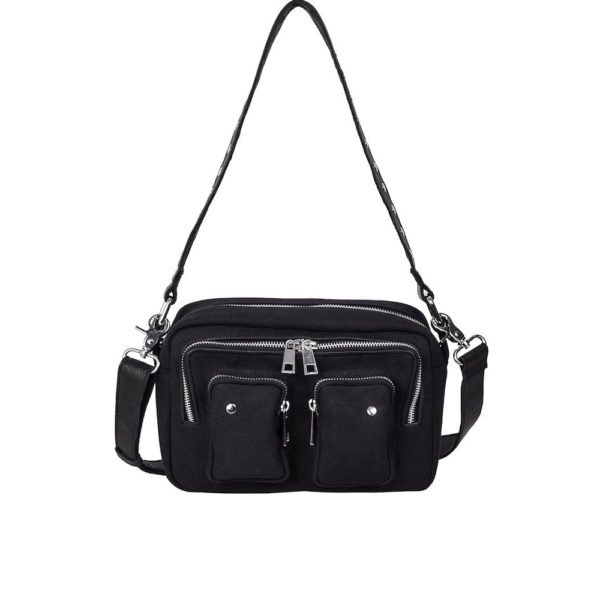 Ellie recycled canvas black bag