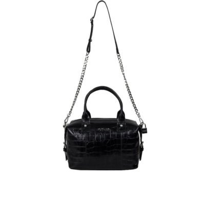 Small Bobby croco black bag