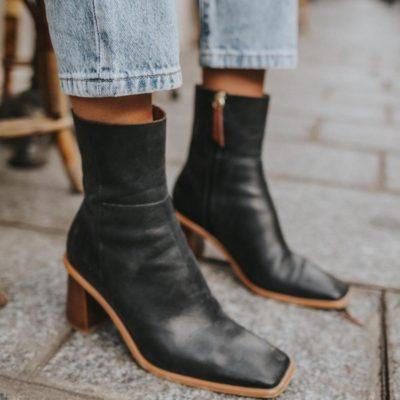 Boots West Black Vintage