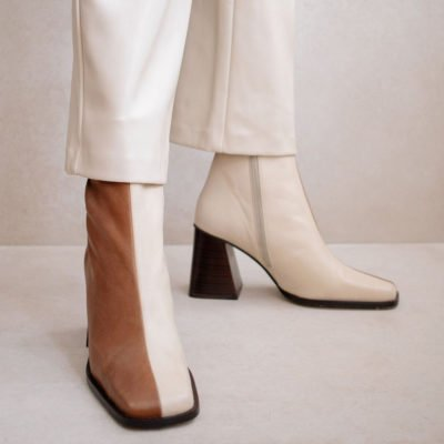 Ankle Boots South Bicolor Camel & Beige