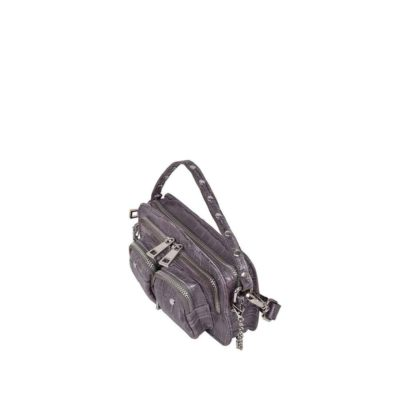 Helena croco dark grey bag
