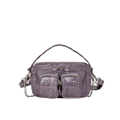 Bolso Helena croco dark grey