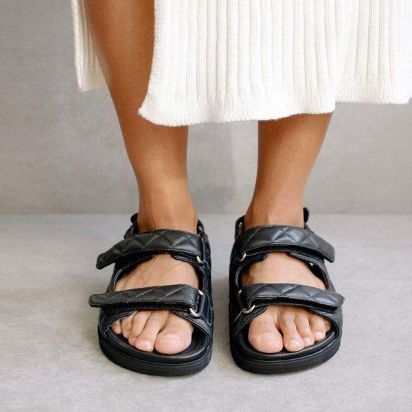 Hook Loop black Sandal (PRE-SALE)