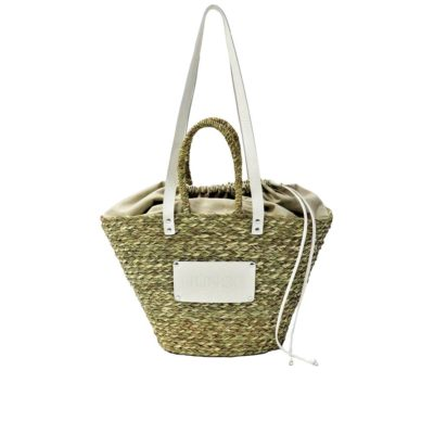 Large beach bag beige