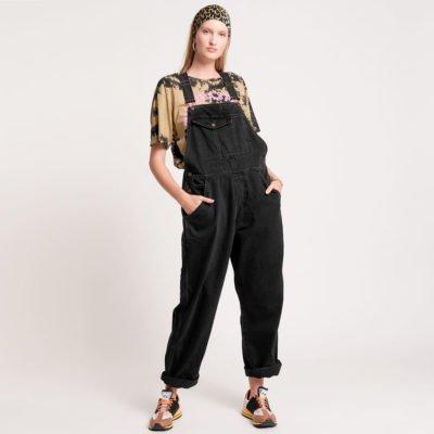 Worn black Stanton ST overalls