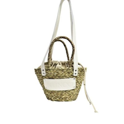 Small beach bag beige