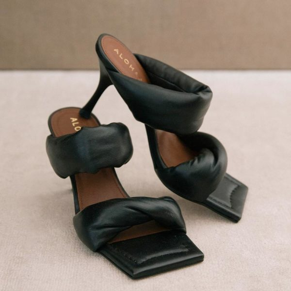 Sandalia Twist Strap negra
